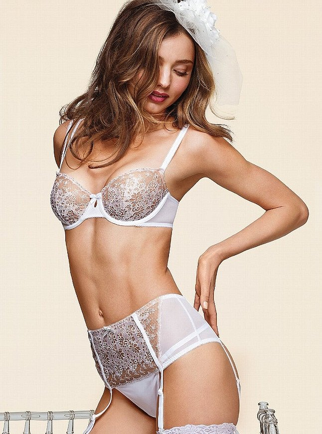 What Lies Beneath: Miranda Kerr Shows Her Wedding-Night Knickers
