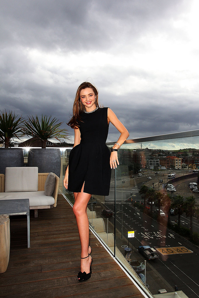 Miranda Kerr stepped out in an LBD to promote Clear Scalp & Hair Beauty Therapy in Australia.