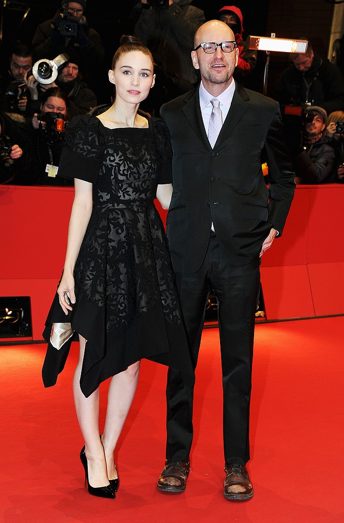 Rooney Mara and Steven Soderbergh linked up at the premiere of Side Effects.
