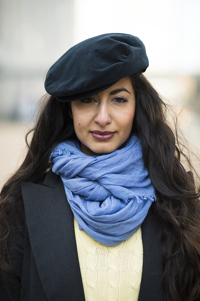 Frosty eyes and maroon lips were the perfect look on Nausheen Shah. Source: Le 21ème | Adam Katz Sinding