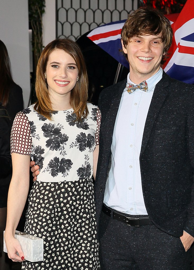 Emma Roberts hung out with boyfriend Evan Peters.