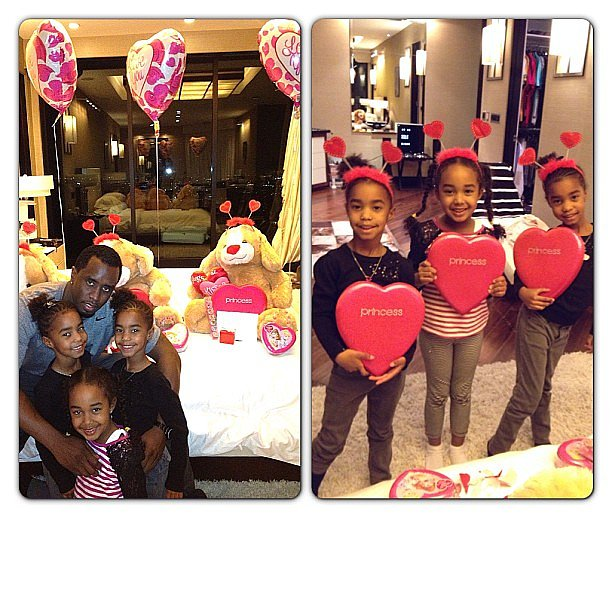 "P. Diddy wished a happy Valentine's Day to his ""three little ladies"" on Instagram. Source: Instagram user iamdiddy"