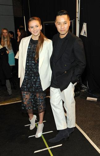 Morgan Saylor and Phillip Lim