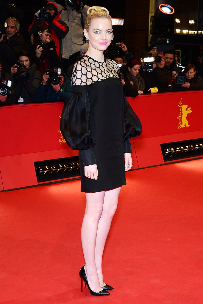 Emma Stone attended the Berlin Film Festival premiere of her film The Croods.