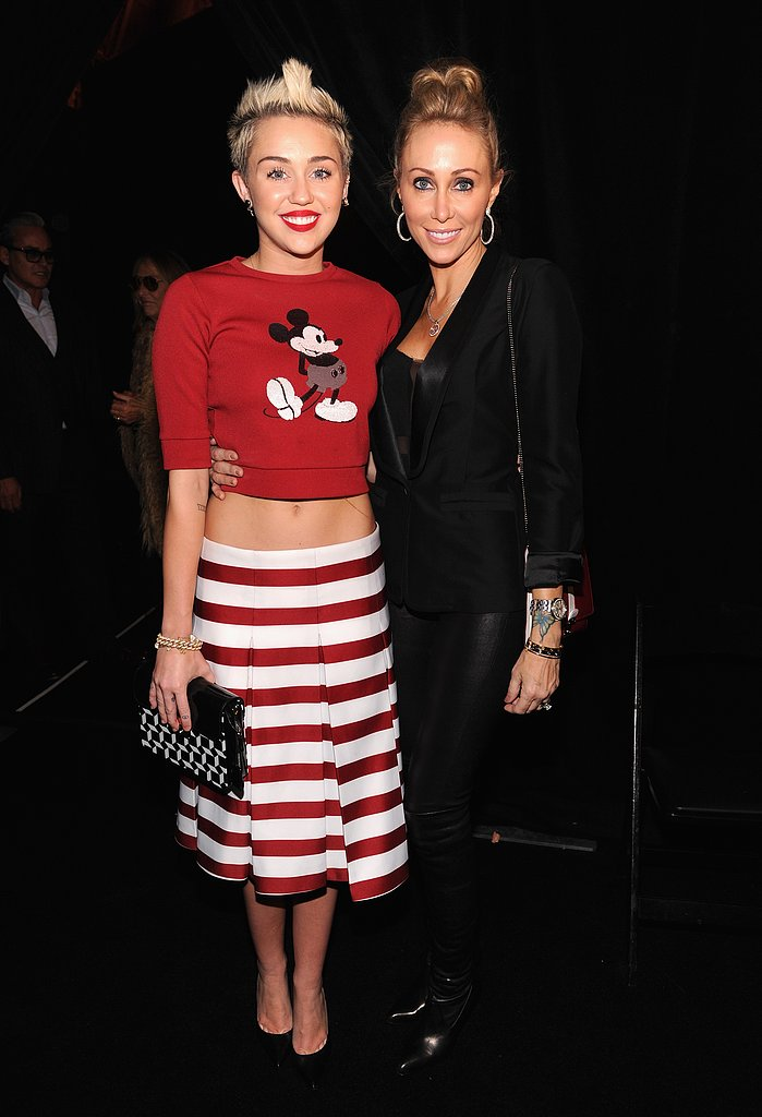 Miley Cyrus posed with mom Tish.