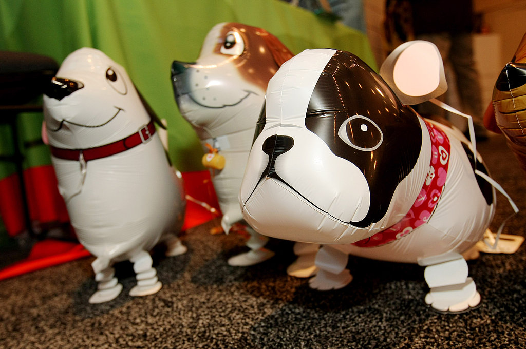 Dog balloons were displayed at My Own Pet.