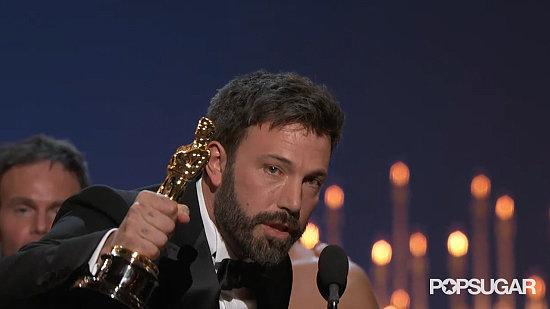 Ben Affleck Cries at Oscars GIF