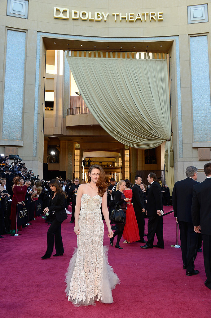 Kristen Stewart on the red carpet at the Oscars 2013.