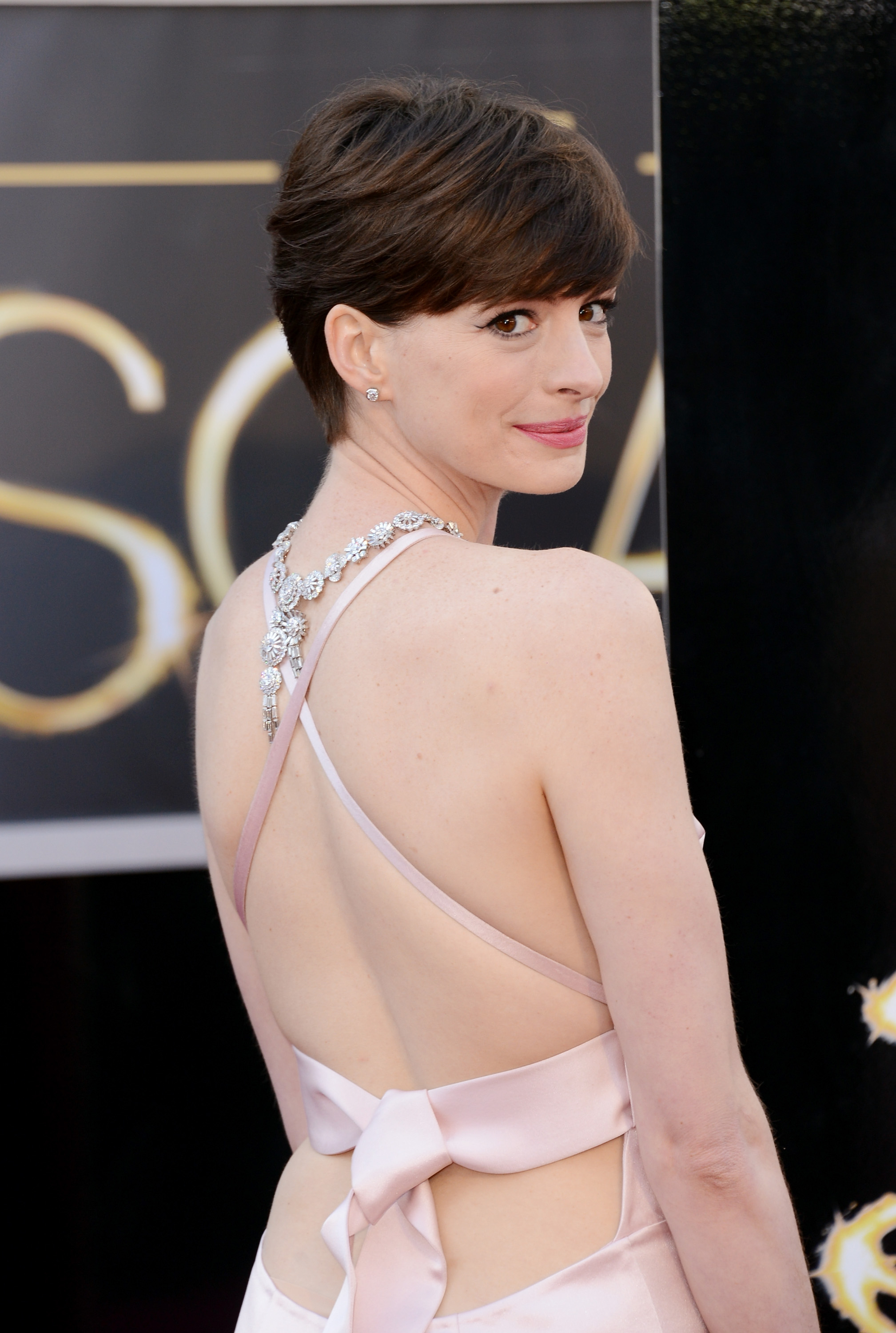 Anne Hathaway Takes Her Oscar Out on the Town