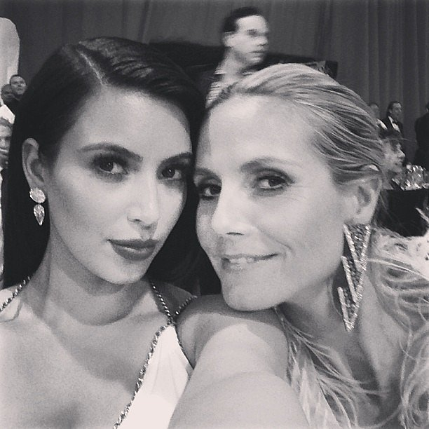 Kim Kardashian and Heidi Klum snapped a photo at an afterparty. Source: Instagram user kimkardashian