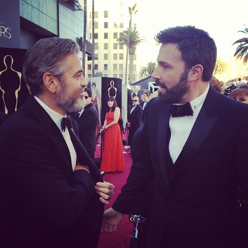 George Clooney and Ben Affleck shared a moment on the red carpet at the Oscars. Source: Instagram user theacademy