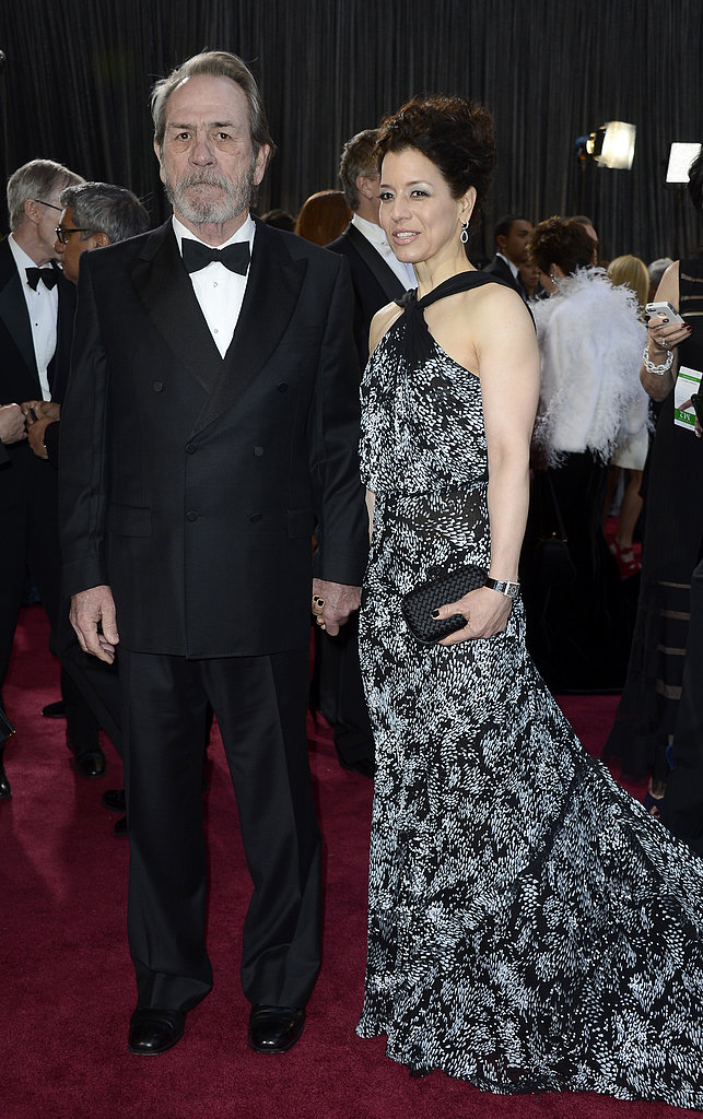 Tommy Lee Jones and his wife, Dawn Laurel Jones, stepped onto the red carpet holding hands.