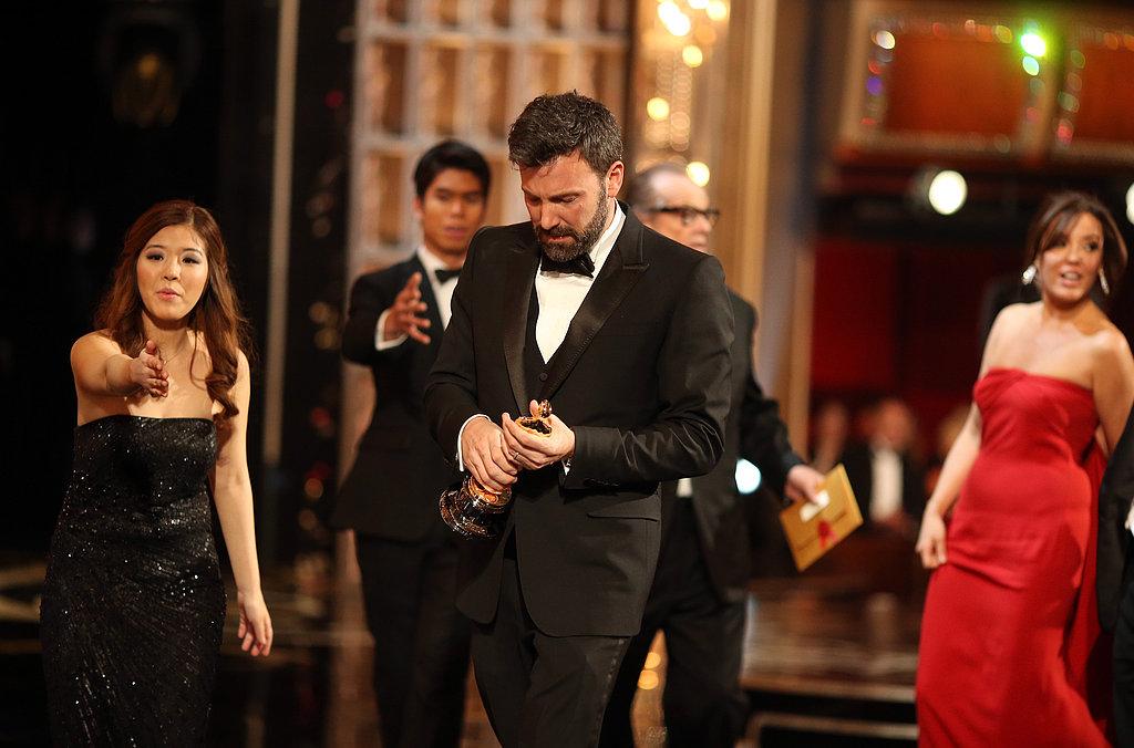 Ben Affleck gazed at his award.