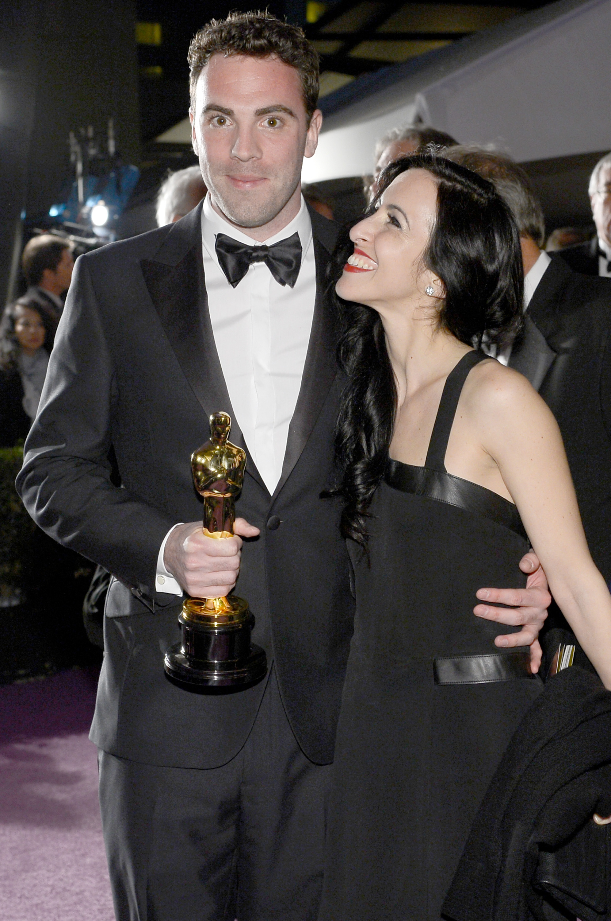 Mark Paterson and Tamara Garabedian were all smiles after the Academy Awards.