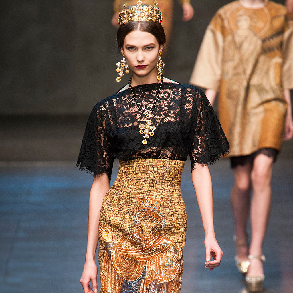 dolce gabbana runway fashion week fall 2013 photos popsugar fashion. Black Bedroom Furniture Sets. Home Design Ideas