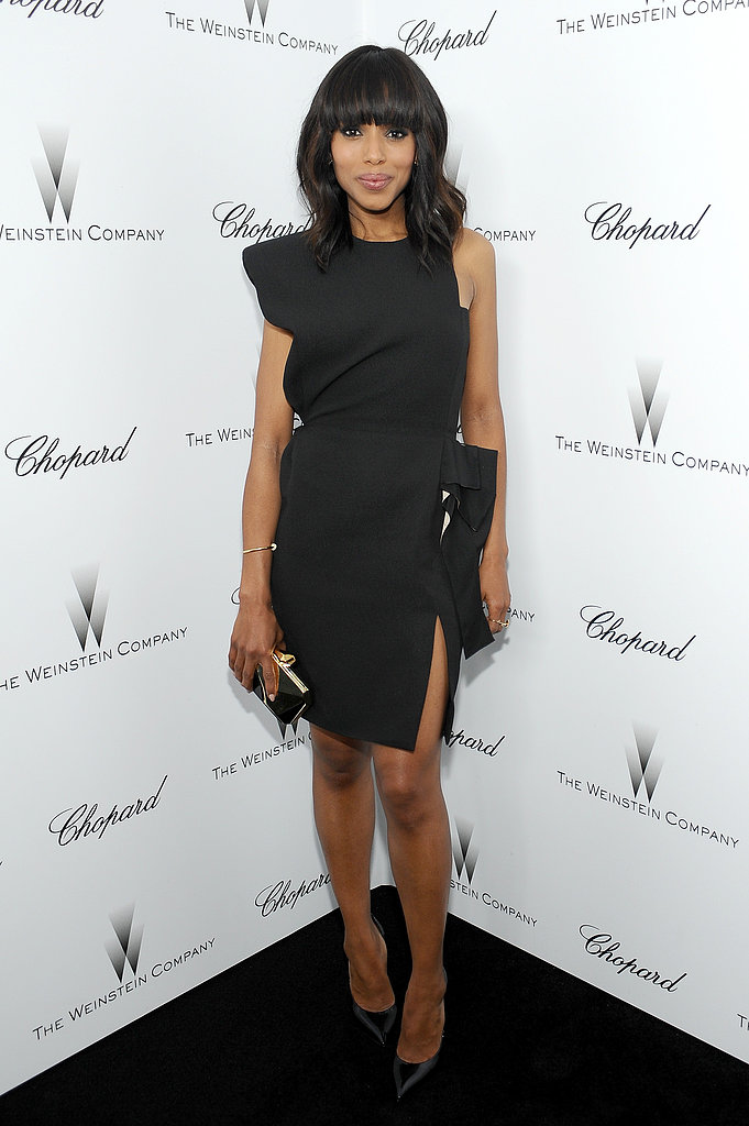 Kerry Washington's asymmetrical LBD was anything but boring at the Weinstein Company's pre-Oscars party.