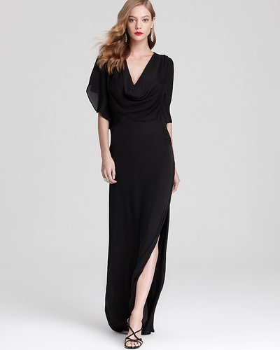 Halston Heritage Gown - Flutter Sleeve