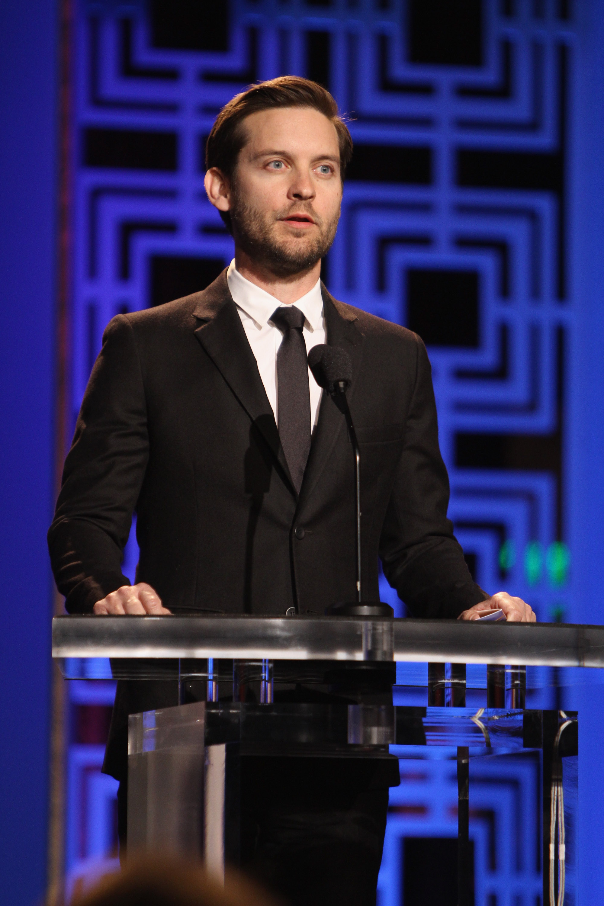 Tobey Maguire presented an award.