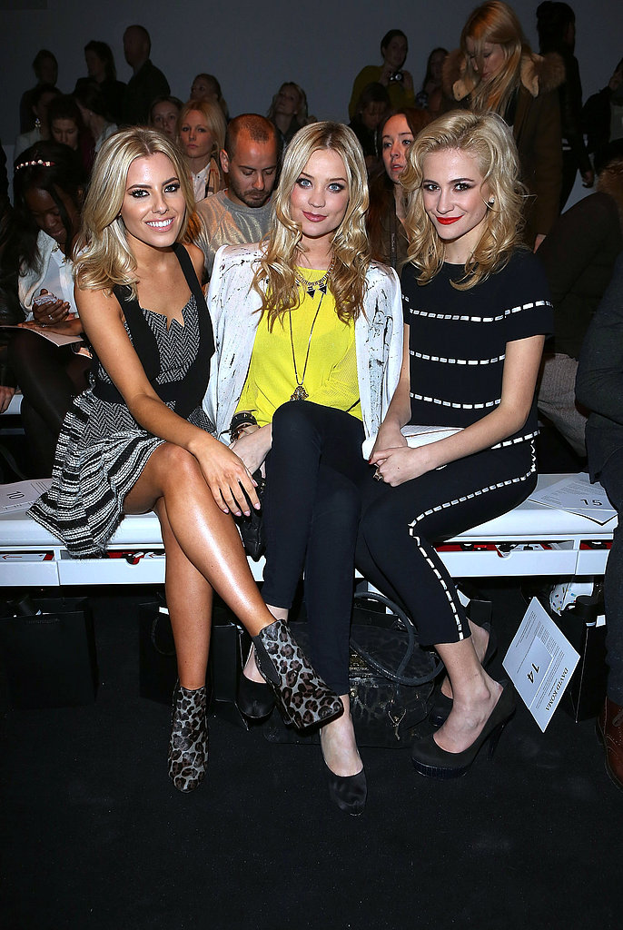 Mollie King, Laura Whitmore and Pixie Lott at David Koma