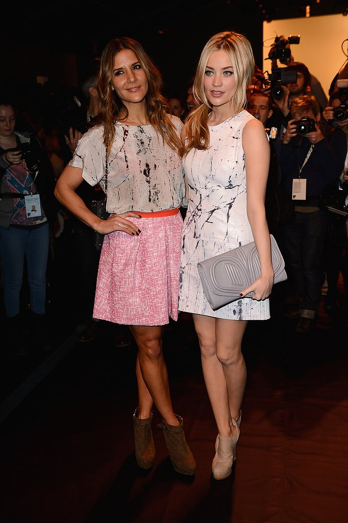 Amanda Byram and Laura Whitmore at Zoe Jordan