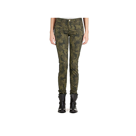 A pair of camouflage jeans hit the model-off-duty note perfectly. Go AWOL with soft, slouchy knits in neutral colours and plenty of chambray. Jeans, $99, Country Road