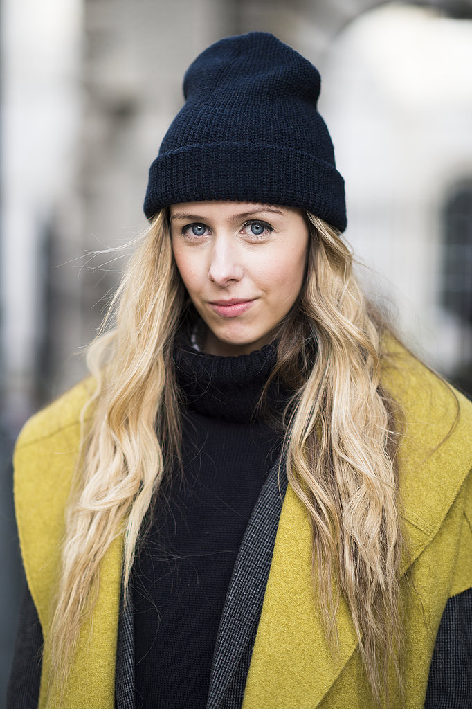 Textured, wavy hair and thick eyeliner looked gorgeous tucked under Daniella Robins's cap. Source: Le 21ème   Adam Katz Sinding