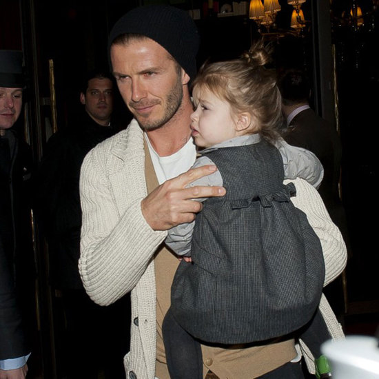 Victoria Beckham and Harper Beckham Shop in Paris