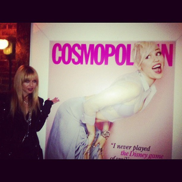 Rachel Zoe attended the launch party for Miley Cyrus's Cosmo magazine cover. Source: Instagram user rachelzoe