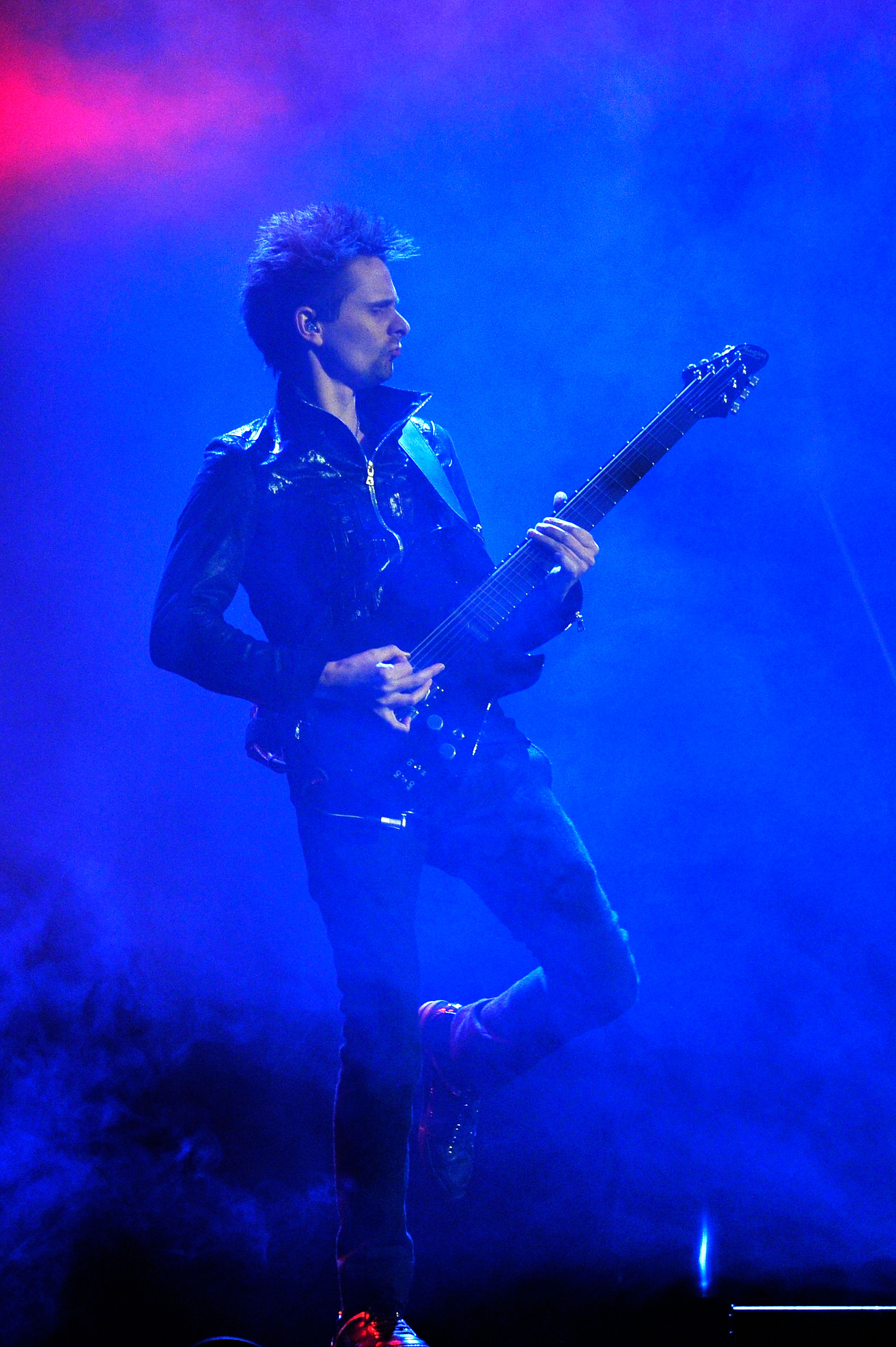 Matthew Bellamy rocked out on stage.