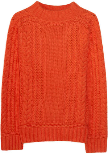 Aubin & Wills Paignton cable-knit merino wool sweater