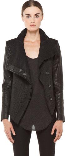 Helmut Lang Flap Collar Jacket in Black