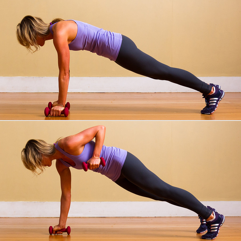 Circuit One: Plank With Reverse Row