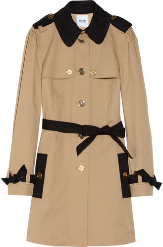 Moschino Cheap and Chic Two-tone cotton-blend trench coat