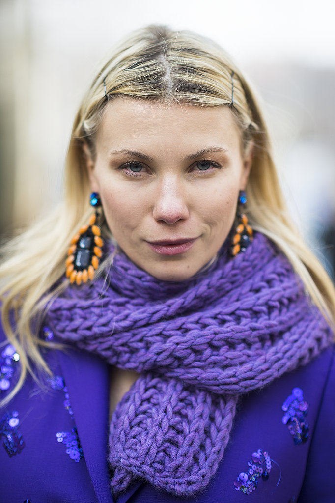 Staggered, exposed bobby pins created a cool look for Zhanna Romashka. Source: Le 21ème | Adam Katz Sinding