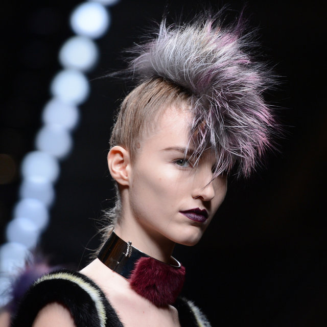 Picture of the Fendi Mohawk at Milan Fashion Week
