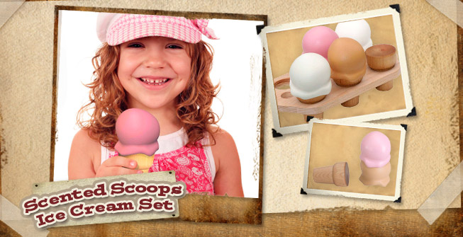 BeginAgain Scented Scoops Ice Cream Set