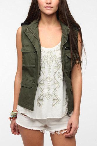 BDG Sleeveless Hooded Surplus Vest