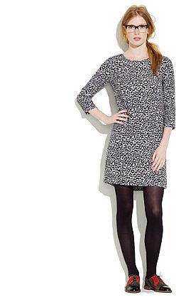Leopard print shiftdress