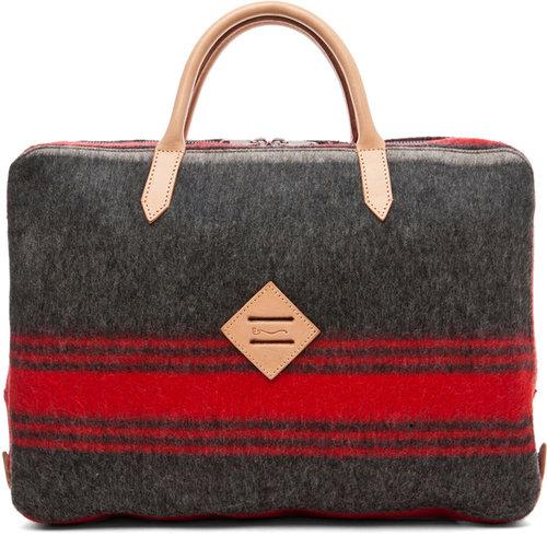 Shipley & Halmos Atlantic Briefcase in Charcoal Grey