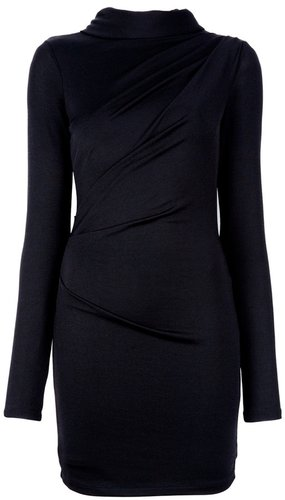 T By Alexander Wang Hooded drape dress