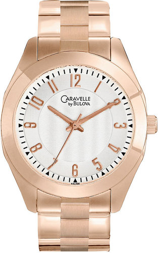 Caravelle by Bulova Watch, Women's Rose Gold Tone Bracelet 36mm 44L106