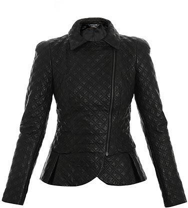 Alexander McQueen Peplum-detail biker jacket