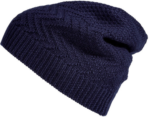 Neil Barrett Ink Blue Wool-Blend Beanie