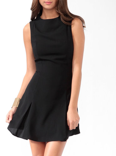 Love 21 Pleated Fit & Flare Dress