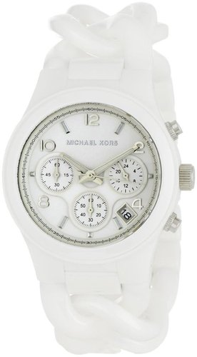 Michael Kors Women's MK5387 Ceramic Classic Chronograph White Watch