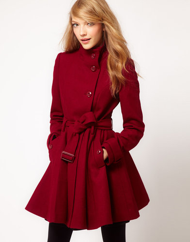 ASOS Fit and Flare Belted Coat