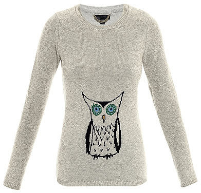 Burberry Prorsum Owl intarsia knit sweater