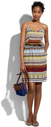 Silk colortread cami dress
