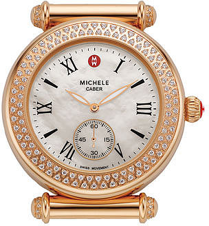 MICHELE 'Caber' Diamond Rose Gold Watch Case