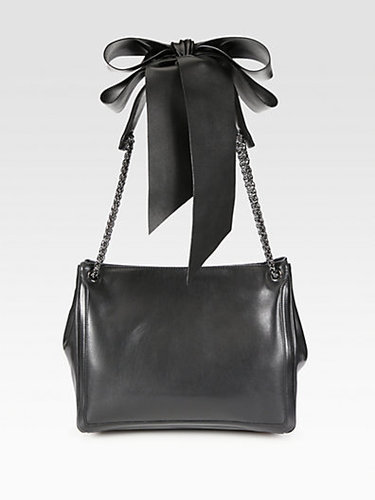 Christian Louboutin Artemis Leather Bow & Chain Shoulder Bag